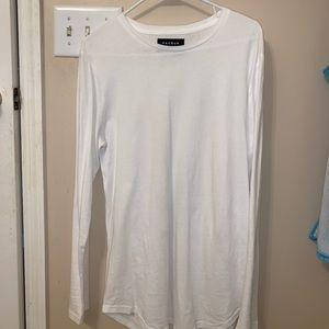 Medium all white PacSun Scallop Long Sleeve
